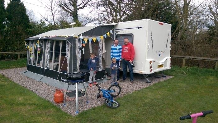 Family Park, Hard-standing pitch, Broadhembury Holiday Park