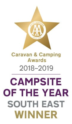 AA Campsite of the Year (South East) 2018-2019 Winner!