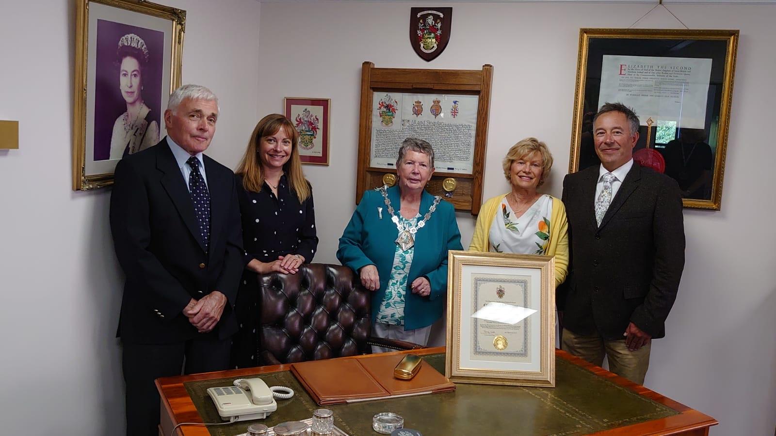 Celebrating 50 years with the Mayor!